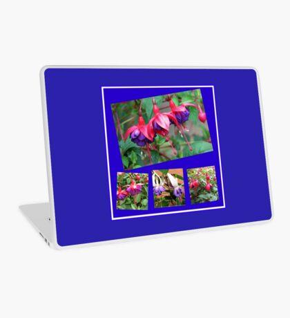 Tanzen Fuchsia Belles - Sommer-Blumen-Collage Laptop Skin