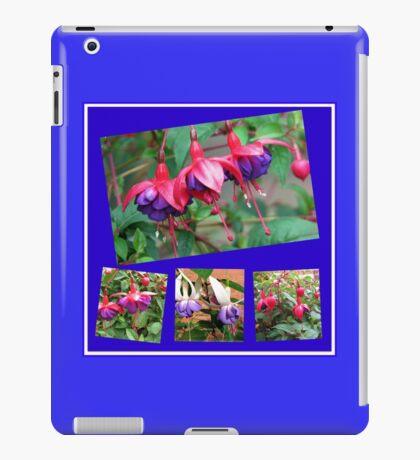Tanzen Fuchsia Belles - Sommer-Blumen-Collage iPad-Hülle & Klebefolie