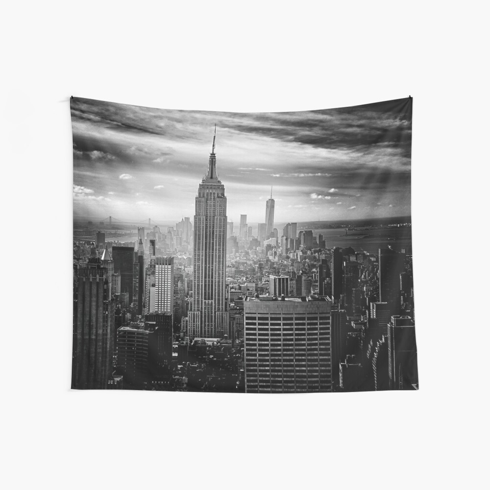 Skyline de la ciudad de Nueva York Tela decorativa