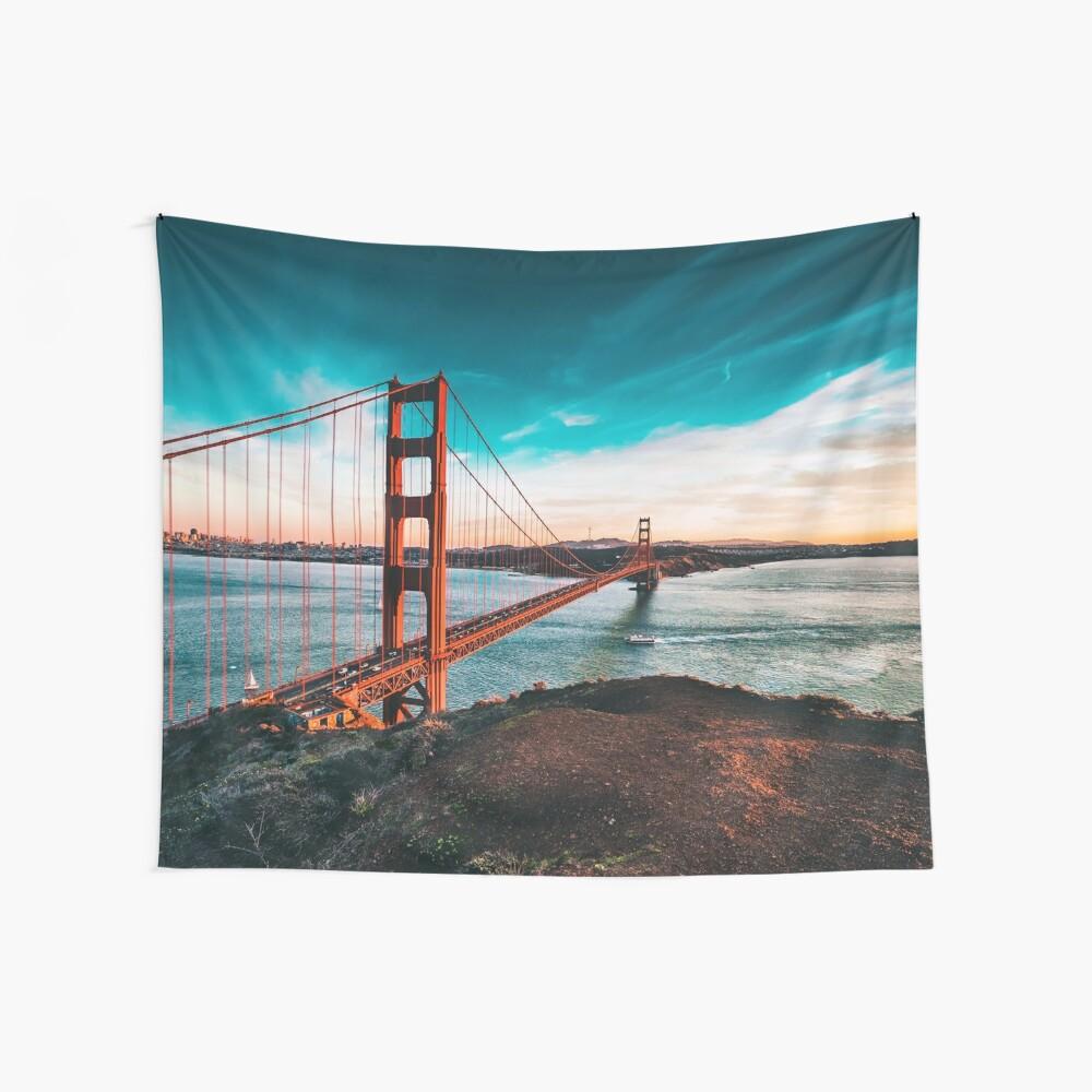 Golden Gate Bridge, San Francisco, Kalifornien - Fotografie Wandbehang