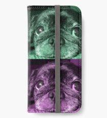 Black Pug dog iPhone Wallet/Case/Skin