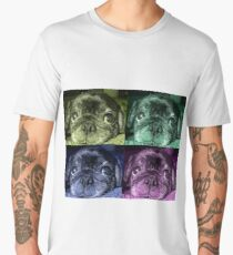 Black Pug dog Men's Premium T-Shirt