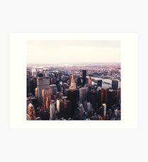 New Yorker Stadtbild Skyscape #trending # Tapestry Kunstdruck