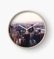 New York City Cityscape Skyscape #trending #tapestry Clock