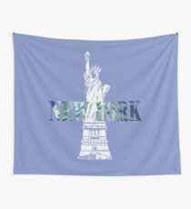 American Majestic Statue of Liberty I Love New York Wall Tapestry