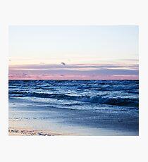 Sea Waves at Sunrise Photographic Print