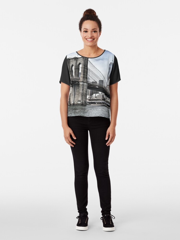 Alternate view of NYC #tapestry #decor #trending Chiffon Top