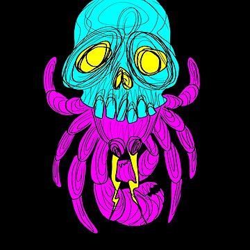 Skull Crab CMYK by Dollop-Merlin