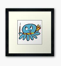 Octopus costume wizard Framed Print
