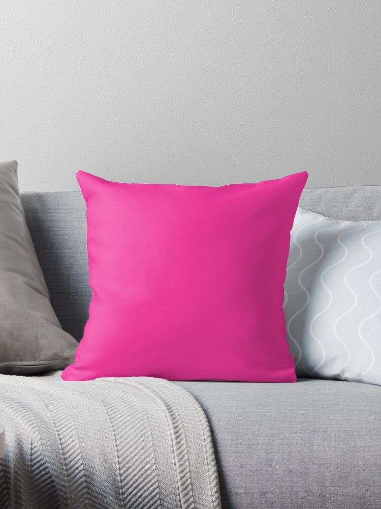 Neon fluorescent Pink/ We Offer 53 Shades of Pink by ozcushions