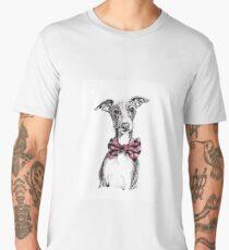 Italian Greyhound wearing a snazzy bow tie Men's Premium T-Shirt