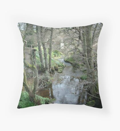 Stonegate Mill  in the spring Throw Pillow