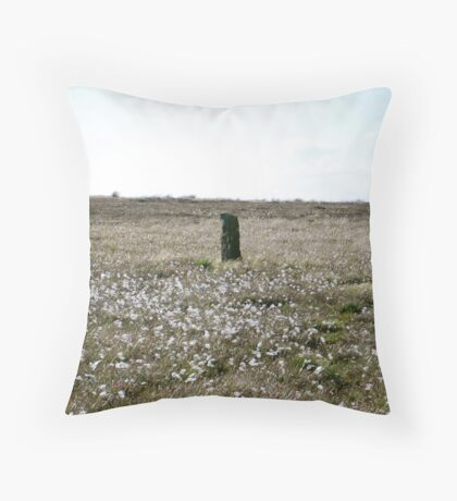 Standing Stone on Lealholm Rigg Throw Pillow