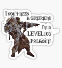 Level 100 Paladin Sticker