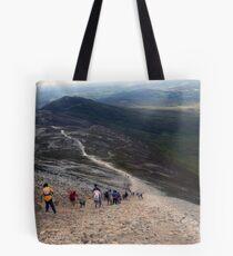 Descending Croagh Patrick Tote Bag