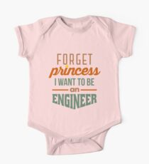 Forget Princess - Engineer Short Sleeve Baby One-Piece