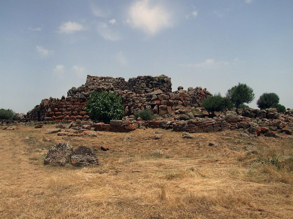 Sardinian stone age ruins by John Quinn