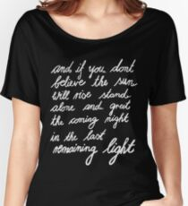 The Last Remaining Light (Chris Cornell inspired) Women's Relaxed Fit T-Shirt