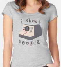 I (Don't Really) Shoot People Women's Fitted Scoop T-Shirt