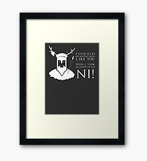 Arrow in the NI! Framed Print