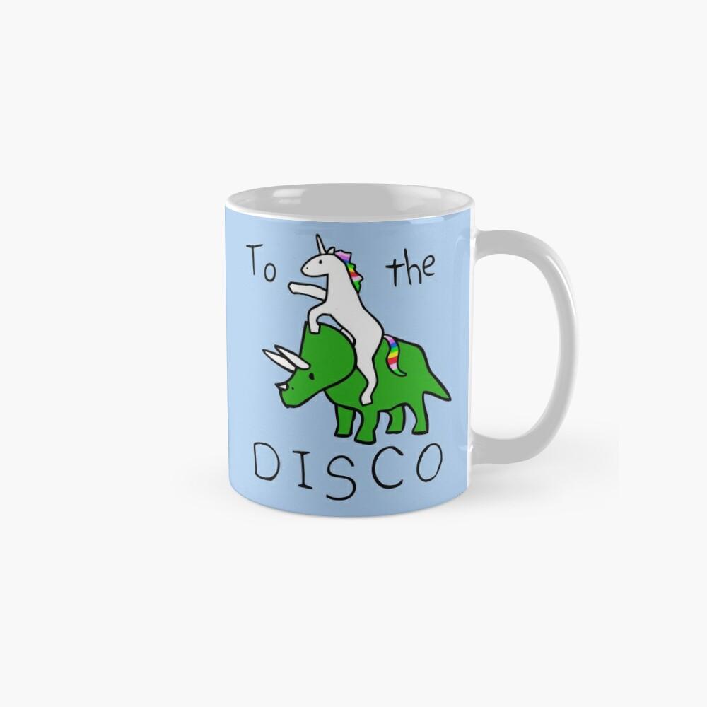 To The Disco (Unicorn Riding Triceratops) Mugs
