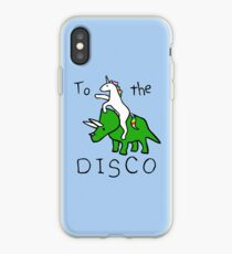 Zur Disco (Unicorn Riding Triceratops) iPhone-Hülle & Cover