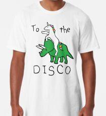 Zur Disco (Unicorn Riding Triceratops) Longshirt