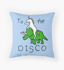 To The Disco (Unicorn Riding Triceratops) Floor Pillow