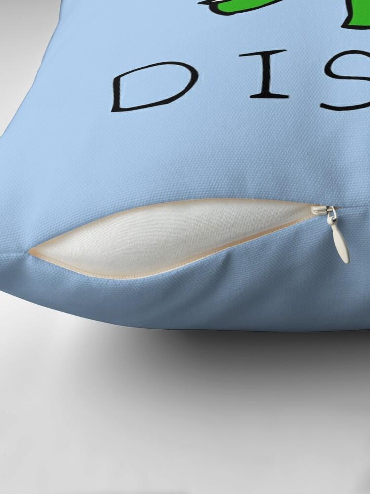 Alternate view of To The Disco (Unicorn Riding Triceratops) Throw Pillow