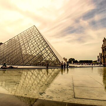 Sun Sets at the Louvre by MarylouBadeaux