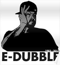 E-Dubble the legend | Artist Merchandise | Black Paisley  Poster
