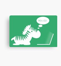 Programming zebra Canvas Print