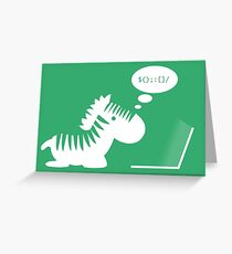 Programming zebra Greeting Card