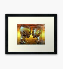 Passion In Gold Framed Print