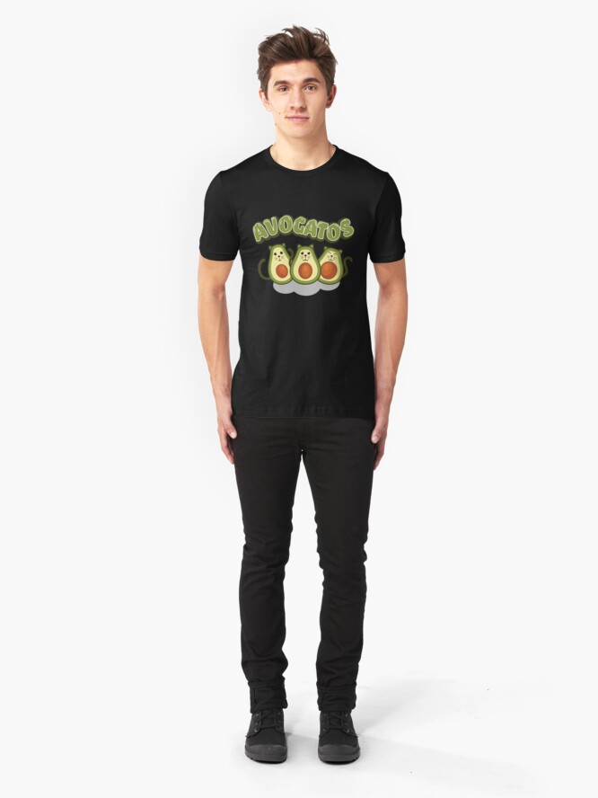 Alternative Ansicht von Avocado Gifts > Funny Avocado Cats > Avogatos > Avocado Slim Fit T-Shirt