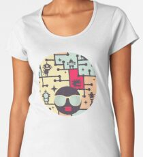 Robotos on the tree Women's Premium T-Shirt