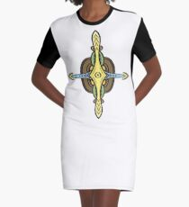 Steampunk cartoon compass Graphic T-Shirt Dress