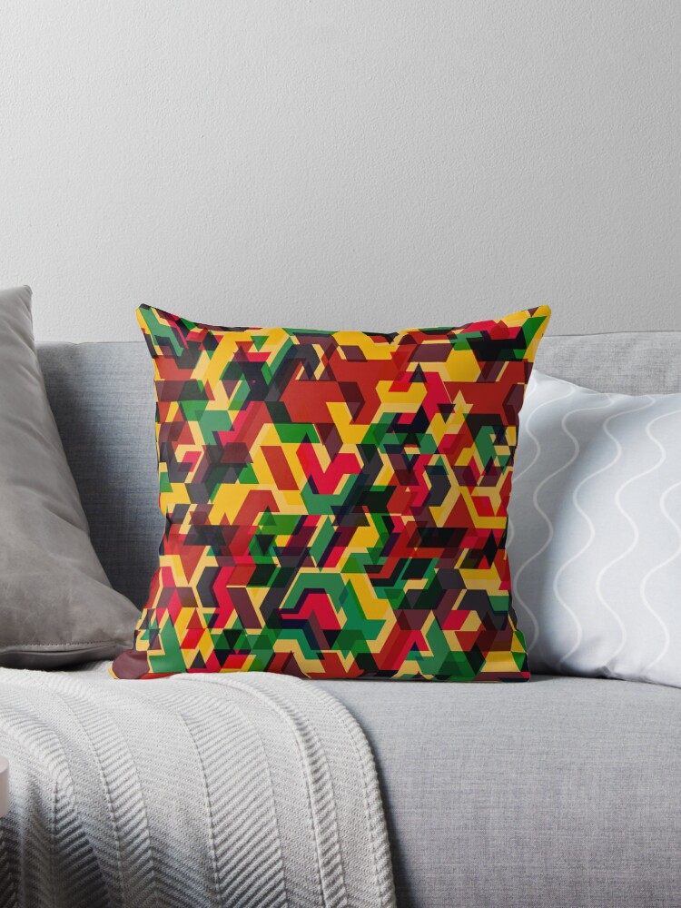 Multi-Color Geometric Camouflage Pattern by quarantine81