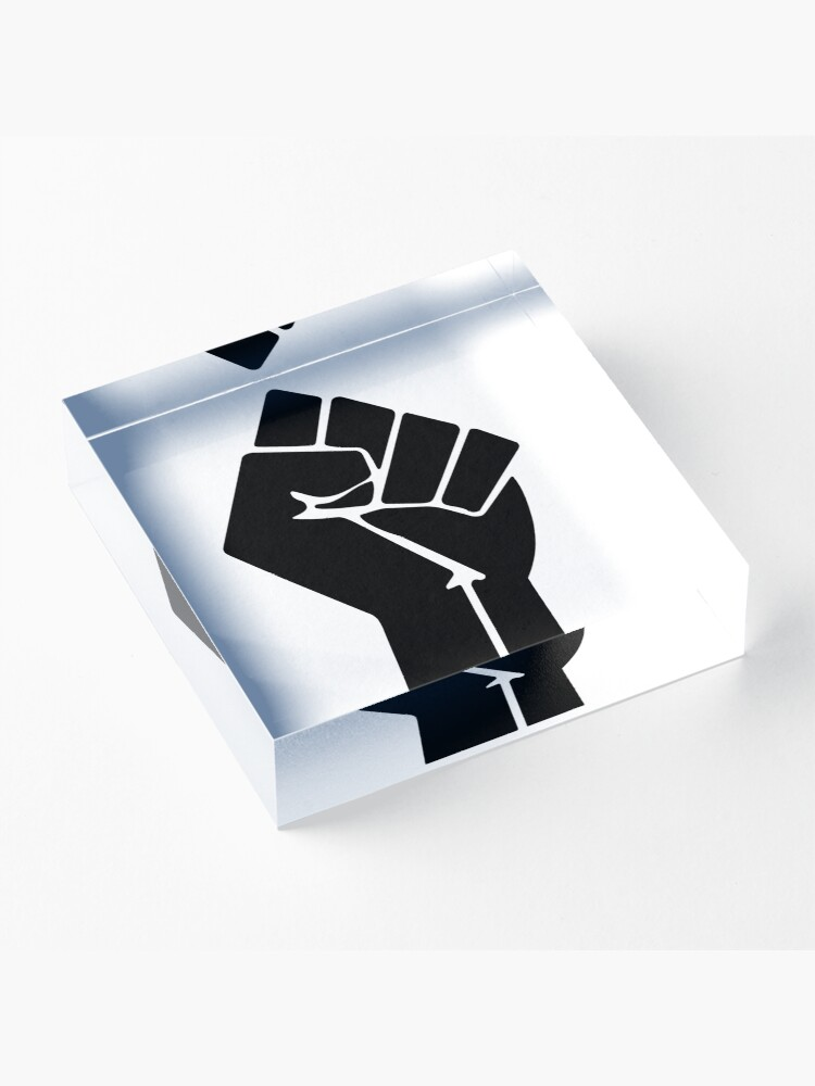 Alternate view of Raised Fist / Black Power Symbol Acrylic Block