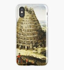 HD Tower of Babel , by Lucas van Valckenborch (1594) iPhone Case/Skin
