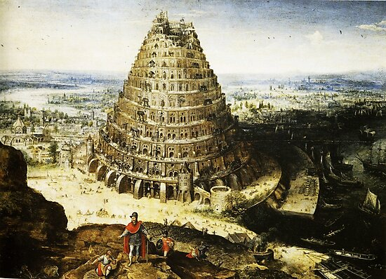 HD Tower of Babel , by Lucas van Valckenborch (1594) by mindthecherry