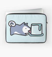 Simple Husky Likes Cold Things Laptop Sleeve