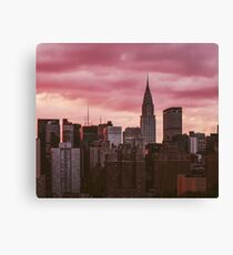 New York City Sonnenuntergang Stadtbild Leinwanddruck