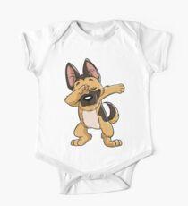 German Shepherd Dabbing Puppy T Shirt Funny Dab Dance Gift Kids Clothes