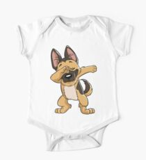 German Shepherd Dabbing Puppy T Shirt Funny Dab Dance Gift One Piece - Short Sleeve