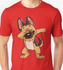 German Shepherd Dabbing Puppy T Shirt Funny Dab Dance Gift T-Shirt
