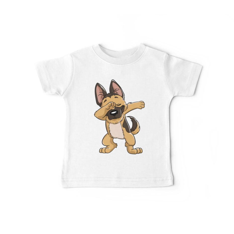 German Shepherd Dabbing Puppy T Shirt Funny Dab Dance Gift by LiqueGifts