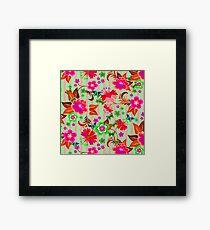 Vector Floral Framed Print
