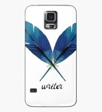 Writer! Blue Feathers Case/Skin for Samsung Galaxy