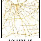 LOUISVILLE KENTUCKY CITY STREET MAP ART by deificusArt